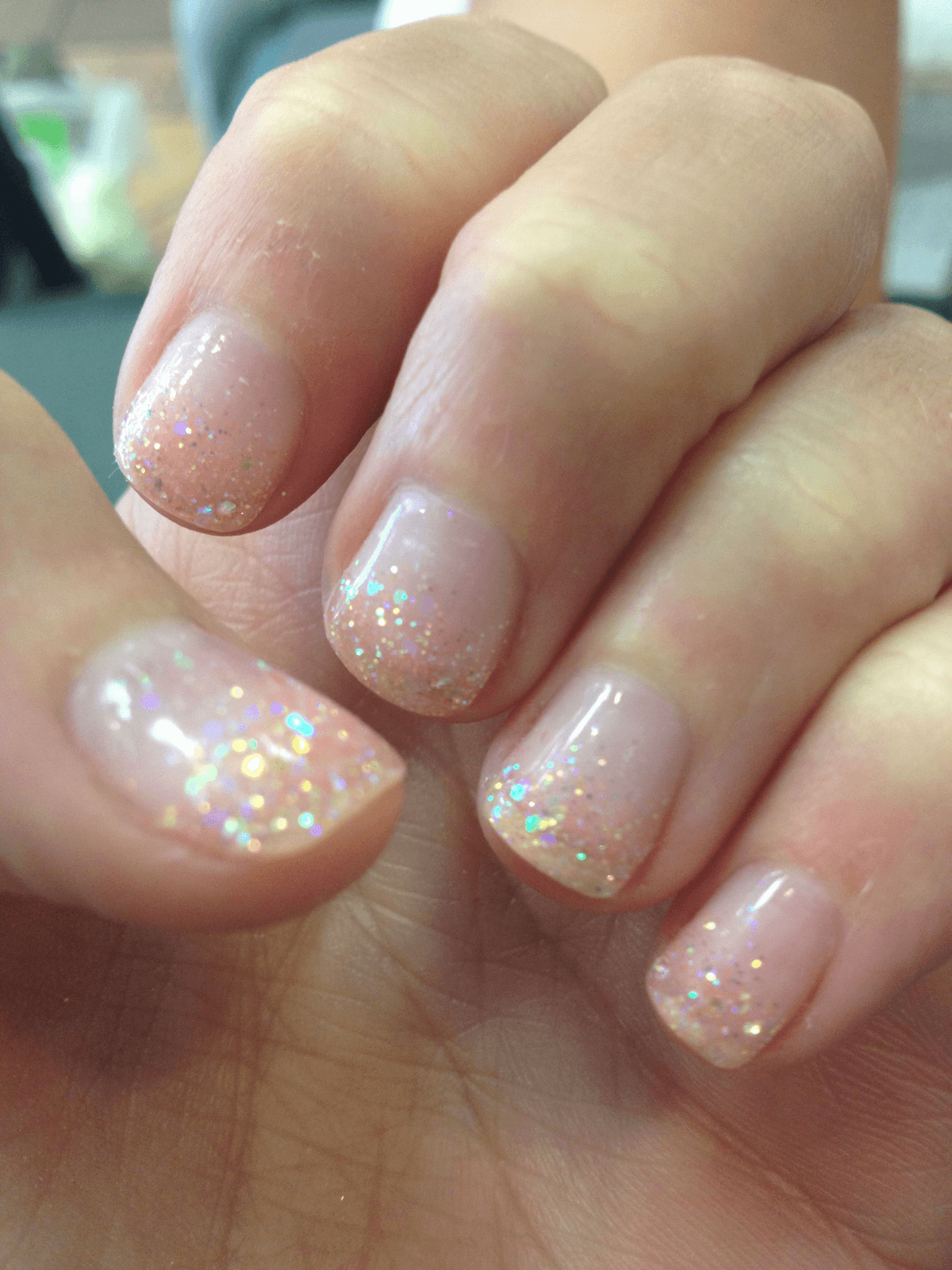 speckled-glitter nail design
