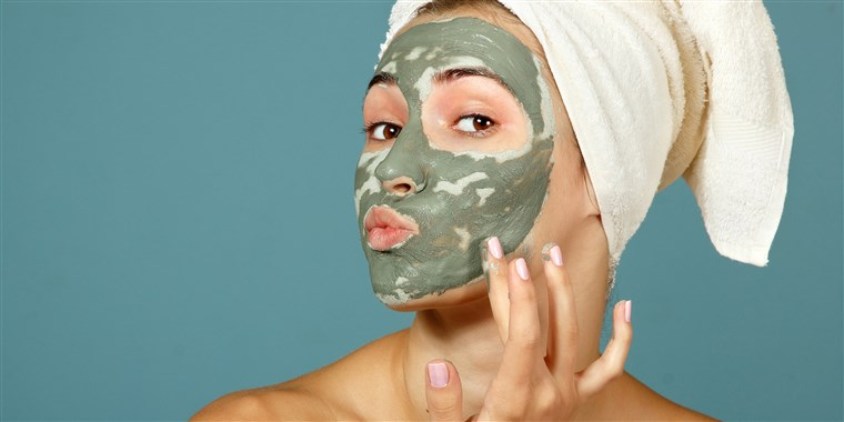 glowing skin with face mask